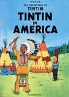 Vintage Tintin in America Book Cover  Poster A3 Print