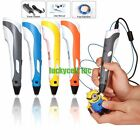 3D Printing Pen Printer Crafting Modeling Stereoscopic ABS Filament Arts Tool