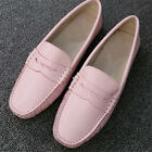 US5-9 Casual Leather Slip On loafer Women Candy Color ballet Flat Shoes