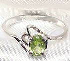 Genuine Green Peridot .925 Sterling Silver Ring -- PD863