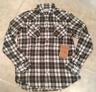 True Religion Shirt SAWTOOTH NO LOGO WESTERN Plaid flannel IVY Green NEW