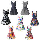 Women Girl Sexy Chiffon Sleeveless Sundress Beach Floral Mini Dress Short New