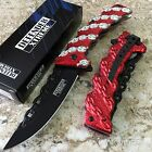 """8"""" Chain Linked Handle Tactical Assisted Open Rescue Pocket Knife 8196 zix1"""