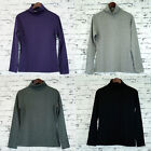 LADIES Long Sleeve Turtle Neck Skivvy Top (9030) Grey Black Purple 8 10 12 14 16