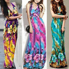 Fashion Womens Boho Tropical Hawaiian Sea Beach Cocktail Long Evening Dresses