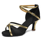 Внешний вид - Brand New Women's Ballroom Latin Tango Dance Shoes heeled Salsa 6 Colors 255-S-W
