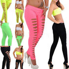 Women Skinny Candy Color Jeggings Stretchy Sexy Slim Hole So