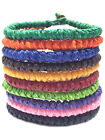 Fair Trade Knotted Wax Cotton Cord Thai Wristband Classic Handcrafted Wristwear