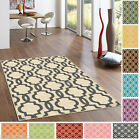 Rubber Back Non-Slip Fancy Moroccan Trellis Area Rugs and Runners High Quality