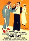 Vintage World War One British Fag Day Cigarettes For Military  Poster A3 Print
