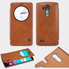 4 Color PU Leather Quick Circle View Flip Smart Case Cover For LG G4 Wake Sleep