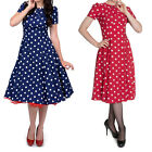 Hell Bunny Madden Dress 50s Polka Dot Pin Up Prom Rockabilly Spot Dress