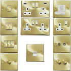 Satin Brass Light Switches & Plug Sockets