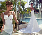2015 Sexy White/ivory Wedding Dress Bridal Gown Custom Size 6 8 10 12 14+++