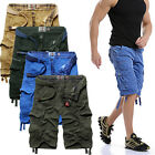 Mens Summer Army Combat Camo Cargo Shorts Pants Trousers size 29-38!