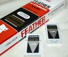 HI-STAINLESS PLATINUM DOUBLED EDGE RAZOR BLADES BY FEATHER RED BOX TYPE