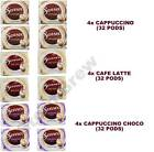 PACK OF 4 (32 PODS) DOUWE EGBERTS SENSEO PADS: CAPPUCCINO or LATTE or CHOCO