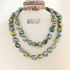 """Baroque 10mm Freshwater Pearl Necklace 25""""-60"""" endless PALETTE TG02 VEGETABLE"""