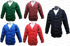 School Cardigan NAVY, GREEN, ROYAL BLUE, RED, MAROON ages 2 3 4 5 6 7 8 9 10 11