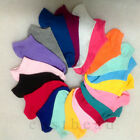 1 Pair Women Girls' Candy Color Short Ankle Boat Low Cut Sport Socks Crew Casual
