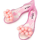Super Pretty Grapes Pink Jelly Womens Flats Shoes