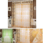 Floral Tulle Door Window Curtain Drape Panel Sheer Scarf Valances Gayly