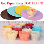60pcs Graceful Filigree Vine Lace Laser Cut Cupcake Wrapper Liner Icing Cup Cake