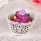 60X Vintage Lace Vine Cake Cupcake Wrappers Wraps Cases Wedding Birthday Party