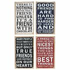 Small Hessian Plaques With Friends Slogans Brand New Lovely Gift