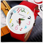 NEW SERIES Cute Ladies Girls Quartz Bracelet Leather Wrist Watch Gifts UK EW