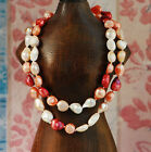 """Baroque 10mm Freshwater Pearl Necklace 25""""-60"""" endless PALETTE TW48 peachblossom"""