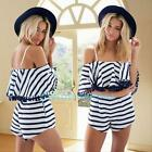 Women's Ladies Chiffon Clubwear Playsuit Bodycon Party Jumpsuit Romper Trousers