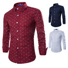 New Fashion Men Luxury Stylish Casual Dress Casual Long Sleeve Slim Fit T-Shirts