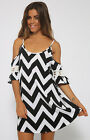 Ladies Sexy Strap  Stripe Beach Dress Summer Mini Dress plus size hot