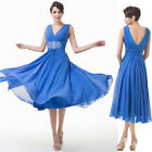 Stock V-neck Evening Party Mother of the Brides Dress Ball gown Cocktail Dresses