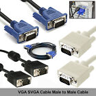 1M 2M 3M 4M 5M 10M 15M VGA SVGA HD 15Pin Male LCD Monitor Projector Video Cable