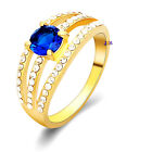 Rhinestone AAA Zirconia Gold Plated Gift Women Jewellry Ring