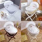 Izziwotnot White Gift Wicker Moses Basket