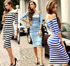 Womens Elegant Bodycon Bandage Casual Evening Party Work Business Pencil Dresses
