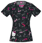 Hello Kitty Hello Bows Cherokee Tooniforms Round Neck Scrub Top 6828 CB HKZA
