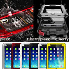 Metal Aluminium Dust Shock Proof Hard Case Cover Tempered Glass for iPhone/iPad
