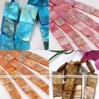 Mother Of Pearl MOP Shell Flat Rectangle Loose Bead Charm Jewelry Finding DIY