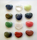 GEMSTONE PUFF HEART CRYSTAL Rose Quartz  Lapis Howlite Jasper Gold Stone Jade