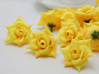 50pcs Wholesale handmade Artificial Crimping Rose Silk Flowers Head Wedding Home