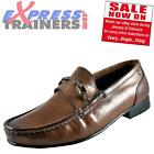Base London Mens Journal Premium Leather Slip On Loafers Brown *AUTHENTIC*