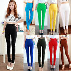 Women Sexy Skinny Jeggings Candy Color Stretch Pencil Pants Slim Trousers Tights