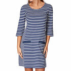 Joules 3/4  Casual Dress Womens  Sleeve - Blue Stripe