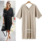 2015 Women maxi dress oversize Evening Dress cotton V NECK dress plus size hot
