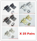 """Lot of 25 Pairs (50Pcs) Self Closing 3/8""""    INSET  OFFSET Style Cabinet Hinges"""