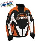 CASTLE X™ Men's Dark Orange Insulated LAUNCH G1 Winter Snowmobile Jacket 70-448_